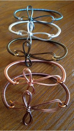 Handcrafted wire wrapped bracelets.