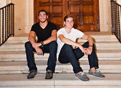 Senior Twin Brothers, photographer Kacia Platt.