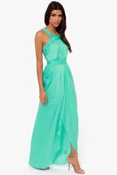 Bariano Grace Sea Green Maxi Dress at LuLus.com!