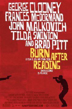 Movie Poster  Cinema Poster Design Burn After Reading