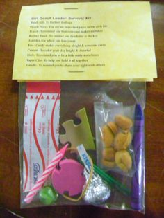 Girl Scout Leader Survival Kit. Give to leaders on new season planning session.