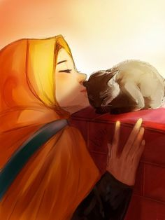 Kawaii Stationery by Bojo-Bijoux Girl Cartoon, Cartoon Art, Hijab Anime, Illustrations, Illustration Art, Hijabs, Hijab Drawing, Islamic Cartoon, Hijab Cartoon