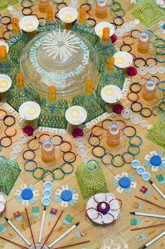 mandala and recycled art - Cerca con Google