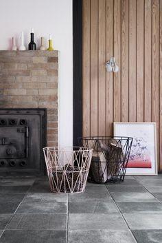 Ferm Living Shop — Wire Basket - Yellow
