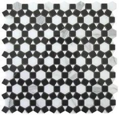 1 Hexagon Pattern Italian Calacatta Gold Marble Sunflower Polished Mosaic Tile. #Hexagon_Pattern. #Calacatta_Gold_Marble