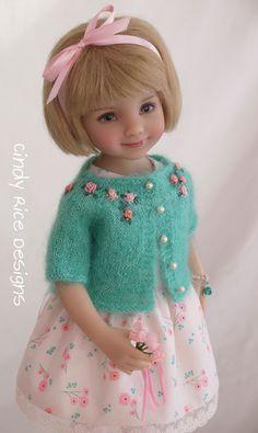 """Wishing for Spring"", an OOAK ensemble made for Dianna Effner's Little Darling dolls, cindyricedesigns.com"