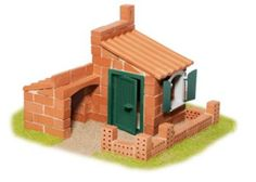Encourage your child to tap into their building skills with the Teifoc Garden Cottage Building Set. This reusable terracotta set can assemble a house or watermill and includes a trowel, mixing bowl and corn-based mortar for endless excitement. Minecraft Building Plans, Minecraft Blueprints, Minecraft Buildings, Minecraft Staircase, Minecraft Bedroom, Minecraft Memes, Minecraft Crafts, Building Layout, Building Toys