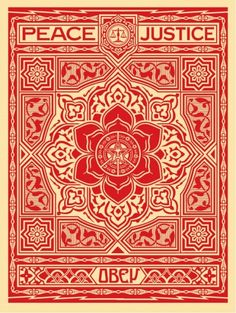☯☮ॐ American Hippie Psychedelic Art ~ Red Peace Justice - OBEY Shepard Fairey street artist . revolution OBEY style, street graffiti, illustration and design posters. Obey Art, Photographie Street Art, Omg Posters, Giant Posters, Shepard Fairey Obey, Illustration Photo, Urbane Kunst, Graphic Art, Graphic Design