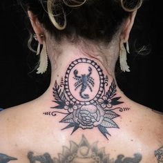 One day I'll add to my Serenity neck tattoo Mirror Tattoos, Ashley Thomas, Serenity, Piercings, Instagram Posts, Floral, Color, Ideas, Art