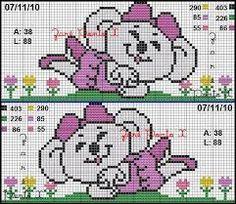 Resultado de imagem para bordado ponto cruz para bebe menina