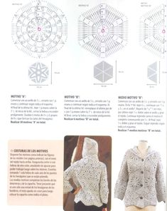 Crochet jacket — Crochet by Yana Crochet Collar, Crochet Jacket, Crochet Stitches, Knit Crochet, Crochet Tops, Hippie Crochet, Crochet Diagram, Rubrics, Knit Patterns