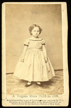 L:\Old Pictures Of The United States\Military\Civil War\SlavesA Virginia slave child in Old Pictures, Old Photos, Antique Photos, Vintage Photographs, Vintage Images, American Children, Black History Facts, African American History, American Civil War