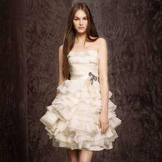 short wedding dresses bridal dress  Sooooooo cute with some turquoise boots!