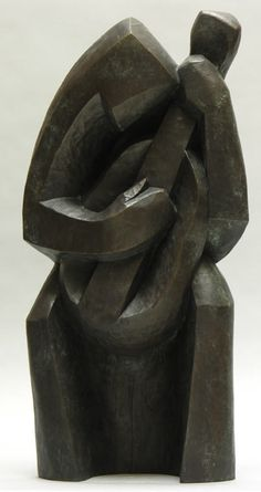 """HENRI-PAUL REY """"GUITARISTE"""" BRONZE FRANCE, CONCEIVED C.1935 27 INCHES"""