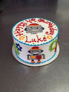 Wild Flour Bakery - Cleveland, OH. Premier NEO Bakery Specializing in Wedding Cakes, Occasion Cakes, and other Treats. Peppa Pig Birthday Cake, Birthday Party Snacks, Birthday Cupcakes, 4th Birthday, Robot Cake, Flour Bakery, Easy Cake Decorating, Birthday Invitations Kids, Cakes For Boys