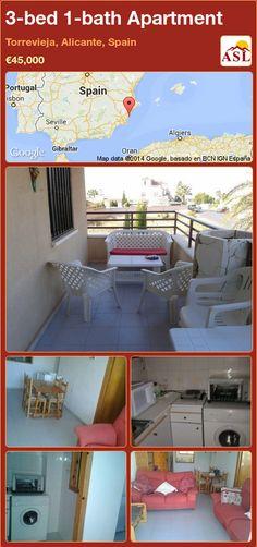 3-bed 1-bath Apartment in Torrevieja, Alicante, Spain ►€45,000 #PropertyForSaleInSpain