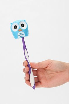 Owl toothbrush holder (omg I want it!)