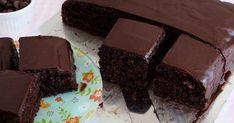 Banana and chocolate cake recipe easy Chocolate Cake Recipe Easy, Chocolate Recipes, Chocolate Cakes, Easy Cake Recipes, Sweet Recipes, Sin Gluten, Square Cakes, Asian Desserts, Greek Desserts