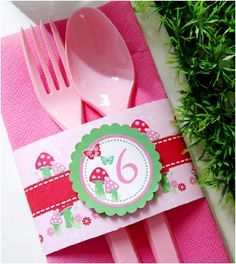 Pixie Fairy Pink birthday party printables and DIY ideas for decorations