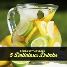 Drink 8 ounces of these flush fat drinks before each meal 3 times a day for 10 days and marvel at the results! #flushfat #fatloss #drinkrecipes