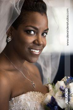 Bride Close up, Lake Wheeler, NC, Vail