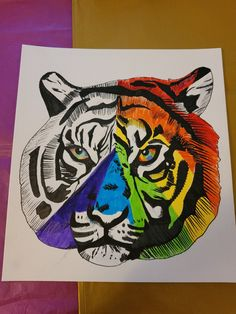 This piece of Gay pride inspired art was created a few weeks ago. Gay rights is a very important subject for me in my personal life and I really wanted to make some art that was inspired by it. #gayprideart #gaypride #gayprideartpainting #watercolour #animalartist #gayrights #prideart Gifts For Nan, Handmade Gifts For Her, Aunt Gifts, Etsy Handmade, Gifts For Friends, Gifts For Kids, Handmade Items, Watercolour Paintings, Colorful Animals