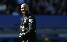 Tim Howard of Everton made his last appearance in the 3-0 win against Norwich City