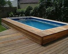 Above Ground Lap Pools deck swimming pools, above or in-ground lap pools | home pool
