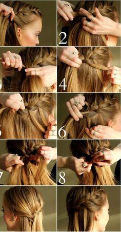 Tuto de coiffure, comment faire une tresse cascade façon simple et rapide. Se coiffer avec un tresse cheveux, la technique sur cheveux longs et courts.