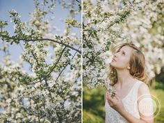http://dreameyestudio.pl/ #dreameyestudio #nikond700 #tree #whiteflowers #springsession #beautifulgirl #naturalmakeup