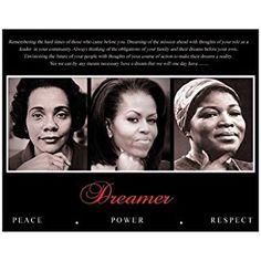 Dreamer (Trio): Peace, Power, Respect Art Poster Print, 10x8