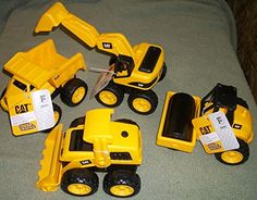 (4) Caterpiller Toys Tough Tracks Caterpillar Toys, Nerf, Track, Construction, Vehicles, Building, Runway, Truck, Car