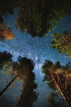 Wunderbarer Sternenhimmel mit Komet