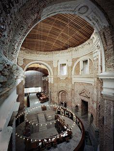 La biblioteca iglesia de las antiguas Escuelas Pías de San Fernando. Madrid