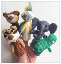 Finger puppets Animals Jungles / Animals from the Jungles