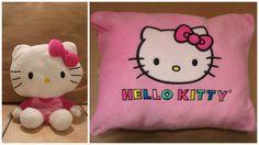 Hello Kitty Reversible Zip Plush Pillow Peek A Boo Soft Toy EUC #HelloKitty
