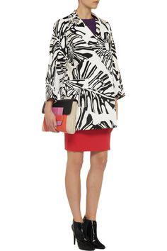 Diane von FurstenbergLaurel printed cotton-canvas coatfront
