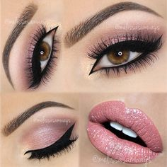 @anastasiabeverlyhills Dipbrow in Ebony, @nyxcosmetics Eyeshadow Base, @chichicosmeticsofficial 'Rich Gems' Palette with @motivescosmetics 'Little Black Dress' liner