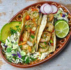 Fresh shrimp tacos