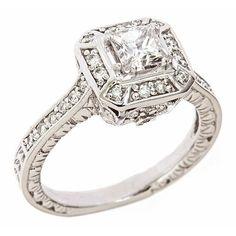 14K White Gold Princess Cut Diamond Engagement Ring Vintage Style (1 1/3 Carats, VS-2 Clarity, J Color) ATR Jewelry, http://www.amazon.com/dp/B004MASR8G/ref=cm_sw_r_pi_dp_-elrrb0GRZBPW