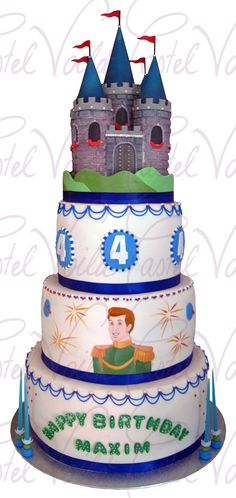A cake castle for a prince