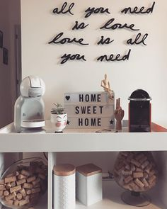 Interior design is the best thing you can do for your home Coffee Bar Home, Coffee Corner, Cafe Bar, Bachelor Decor, Friends Cafe, Diy Home Bar, Design Café, Kitchen Organisation, Cafe Tables