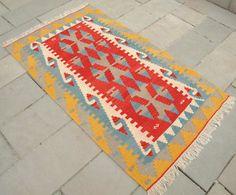 #rug #kilim bright colors, beautiful pattern