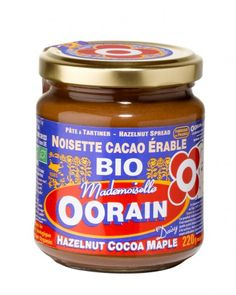 Pâte à tartiner bio Noisettes Cacao Érable par Oorain pour La Bonne Box