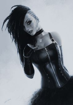 Scifidelic Cyber punk girl, I know not entirely vintage....but imagine it. You know it's gonna look awesome!