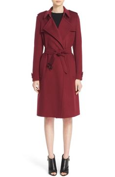 Main Image - Burberry 'Tempsford' Cashmere Wrap Trench Coat