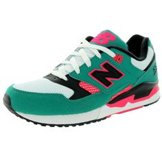 New Balance Women's 90S Running 530 Classics Winter With Black and Coral Pink Running Shoe