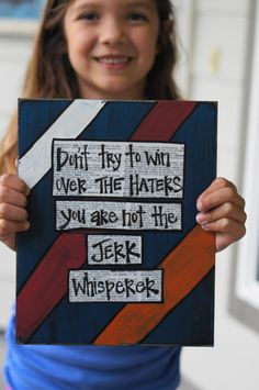 Don't try to win over the haters handmade card. $13.95, via Etsy.