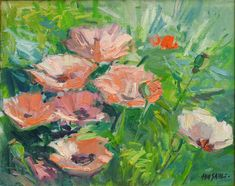 "Don Sahli ""Peach Poppies"" 20 x 24 Oil on Board Southwest Art, List Of Artists, Impressionism Art, Fine Art Gallery, Still Life, Poppies, Art Pieces, Give It To Me, Artsy"