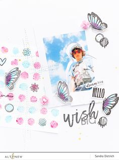 Altenew | Scrapbook Layout with Lots of Dots